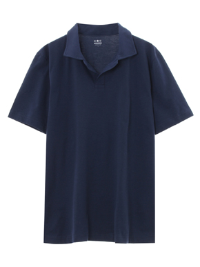 powdery cotton polo 詳細画像