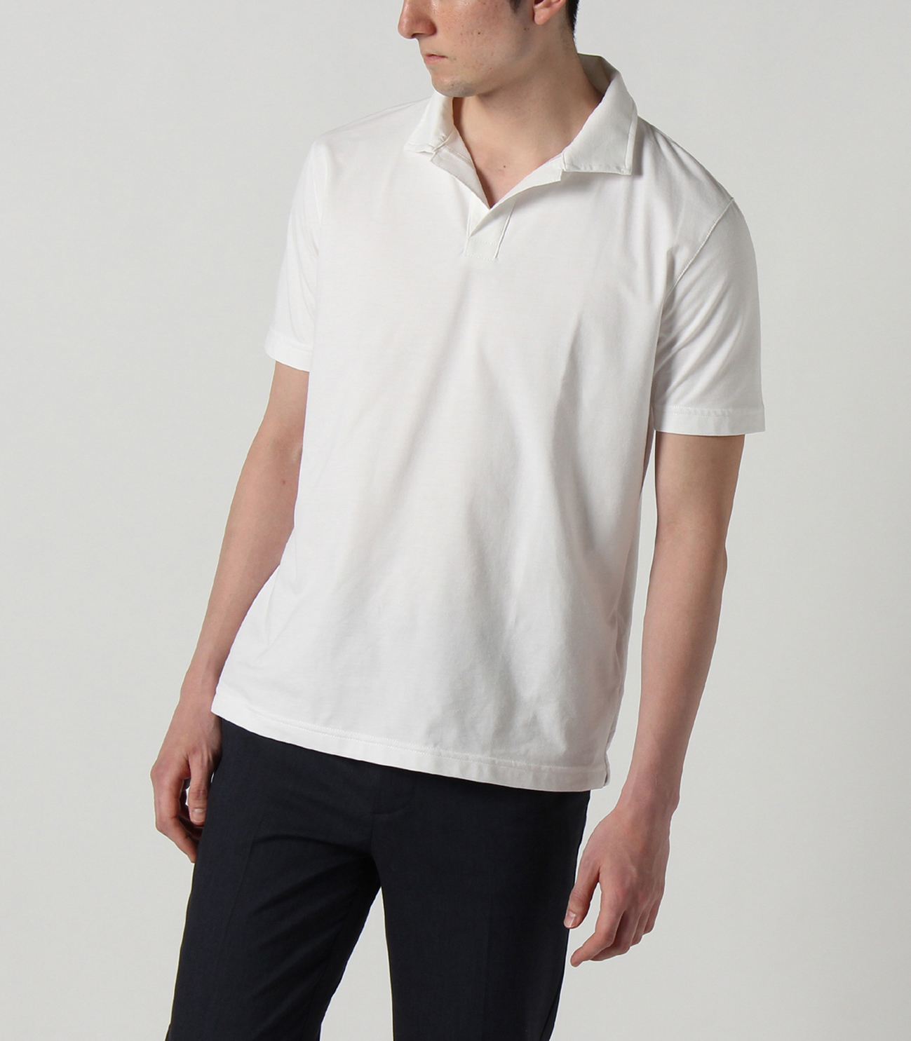 powdery cotton polo 詳細画像 night iris 6