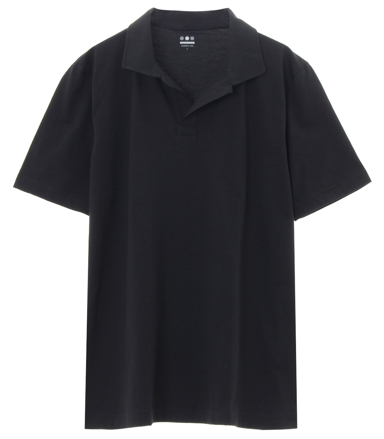 powdery cotton polo 詳細画像 black 1