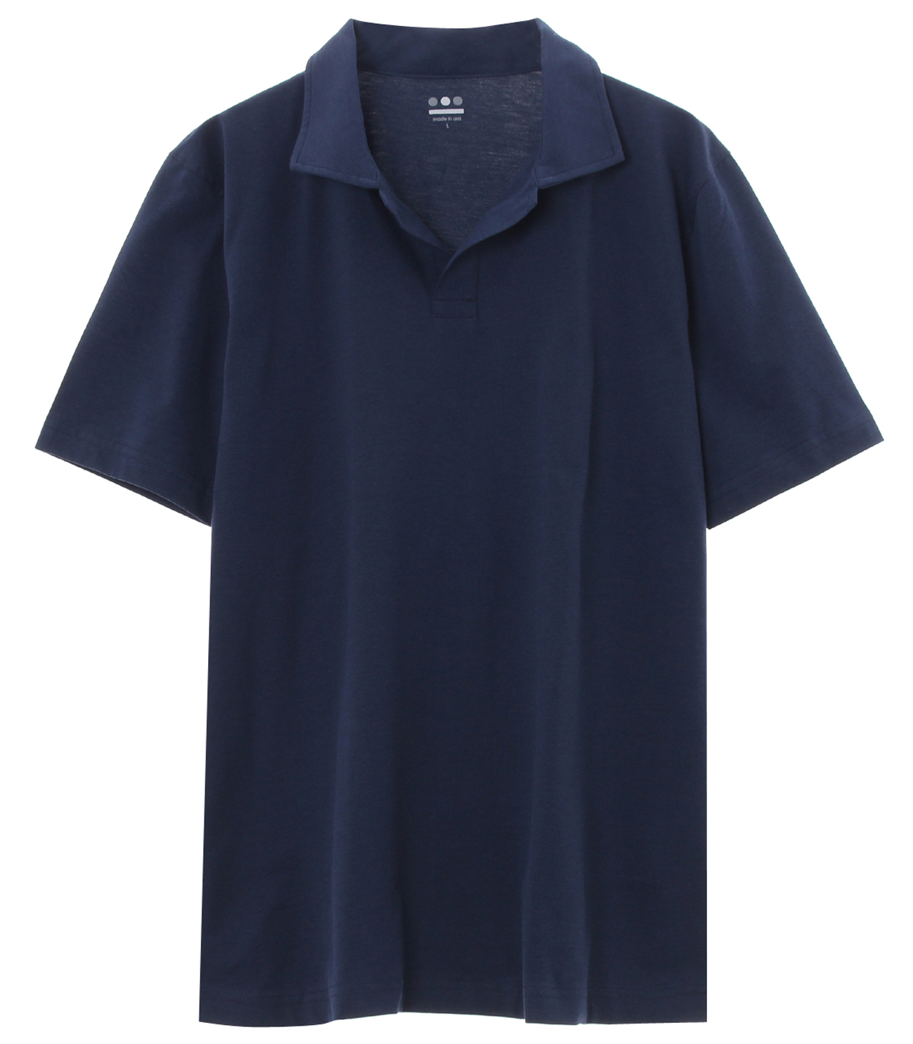 powdery cotton polo 詳細画像 night iris 1