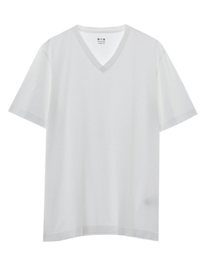 powdery cotton v-neck 詳細画像