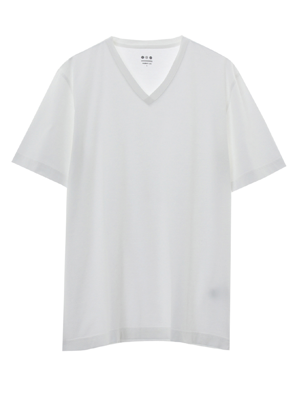 powdery cotton v-neck