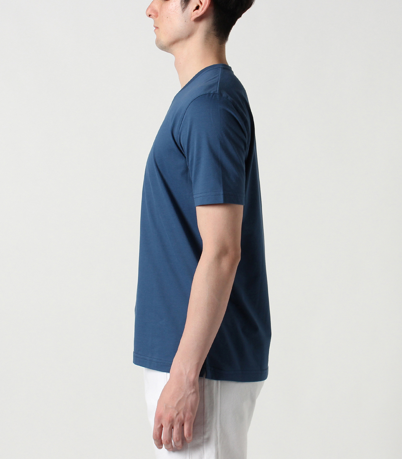 powdery cotton v-neck 詳細画像 white 3