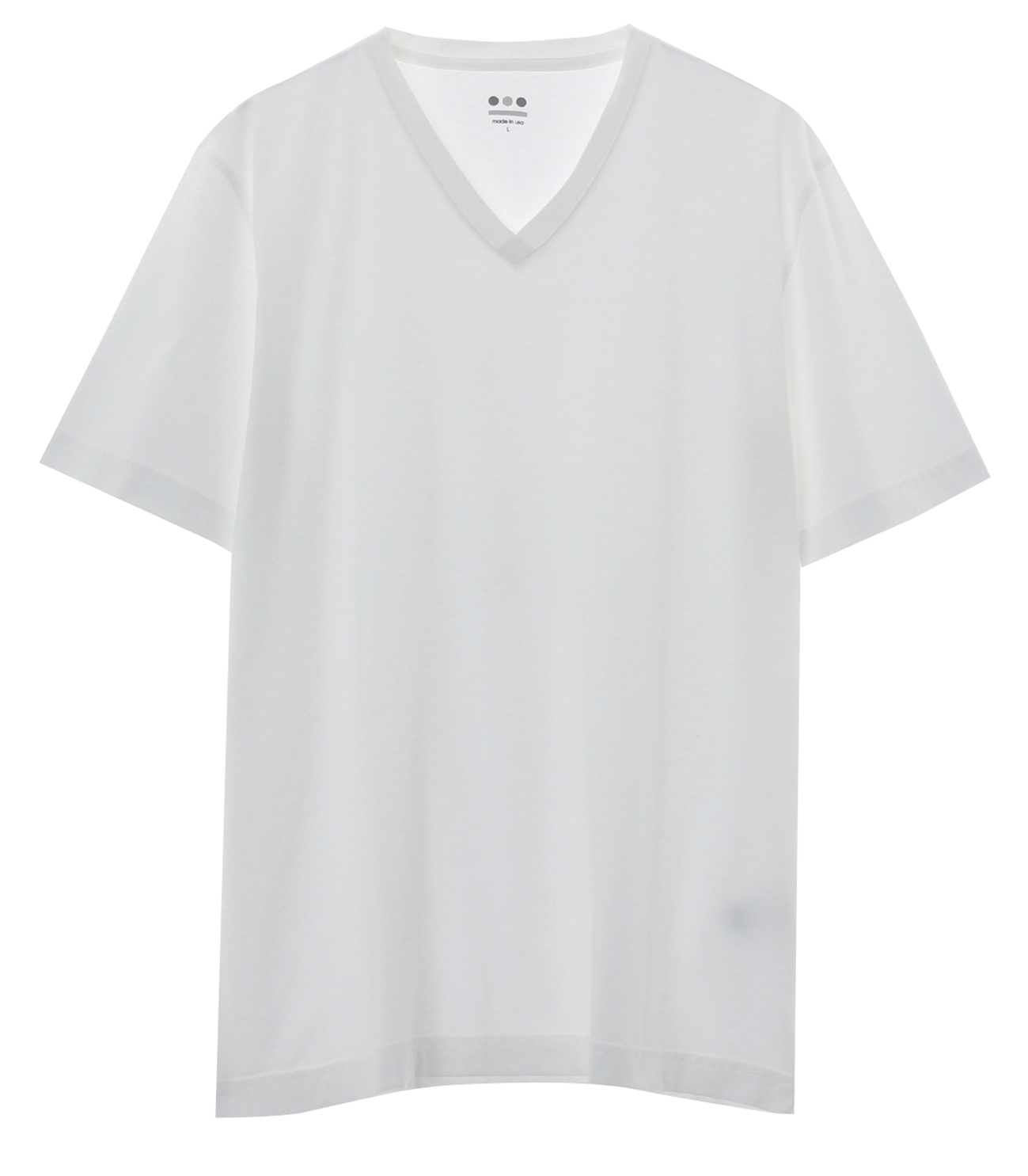 powdery cotton v-neck 詳細画像 white 1