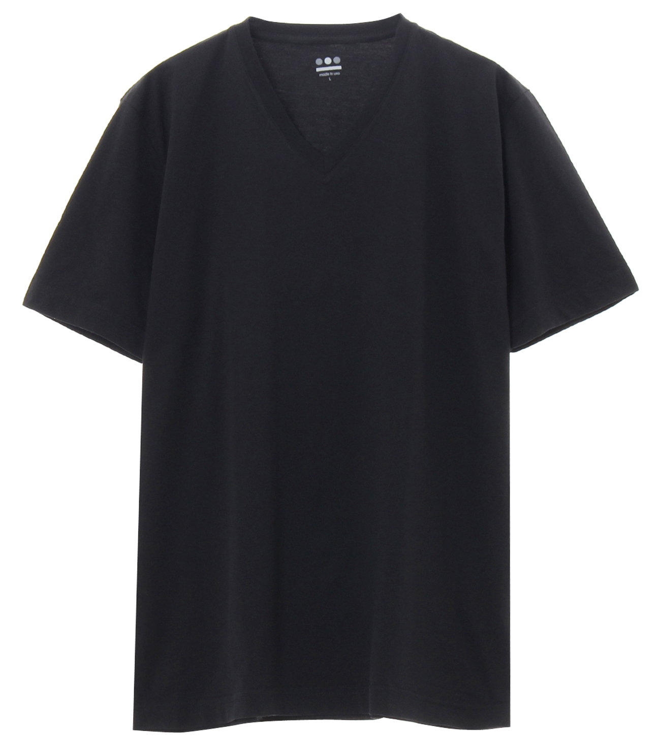 powdery cotton v-neck 詳細画像 black 1