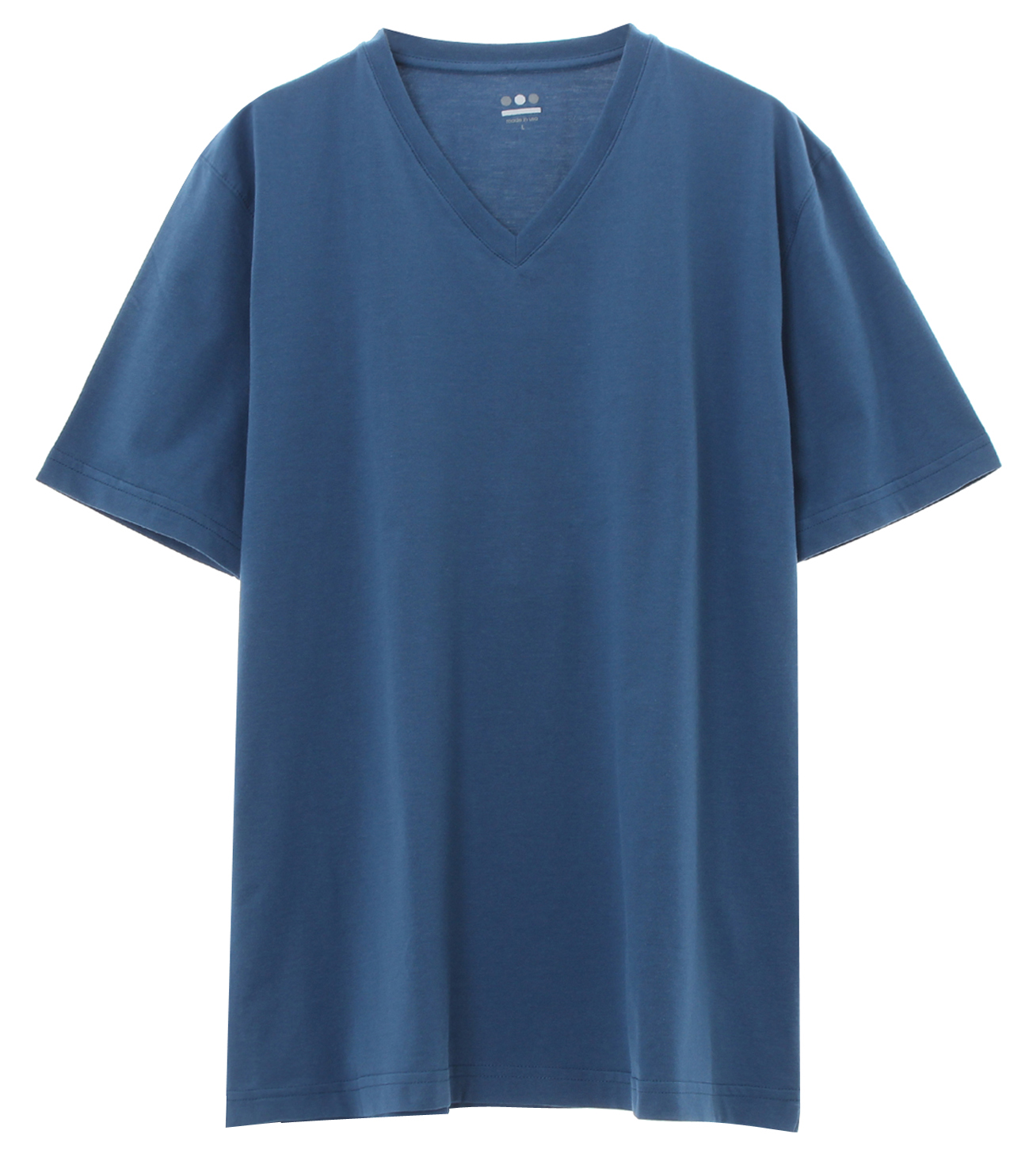 powdery cotton v-neck 詳細画像 blue jean 1