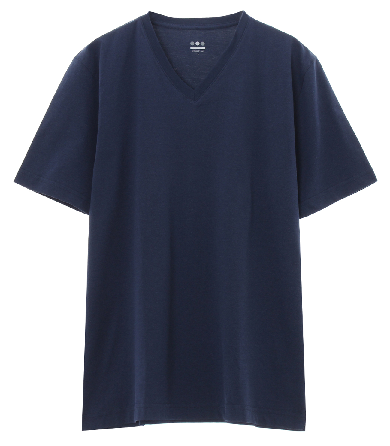 powdery cotton v-neck 詳細画像 night iris 1