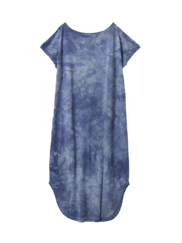 Water color long tee dress