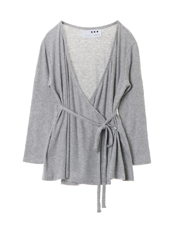 Brushed sweater cash cardigan