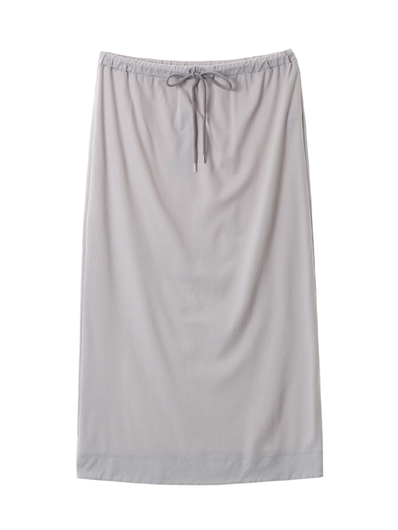 Smooth supima jersey midi skirt