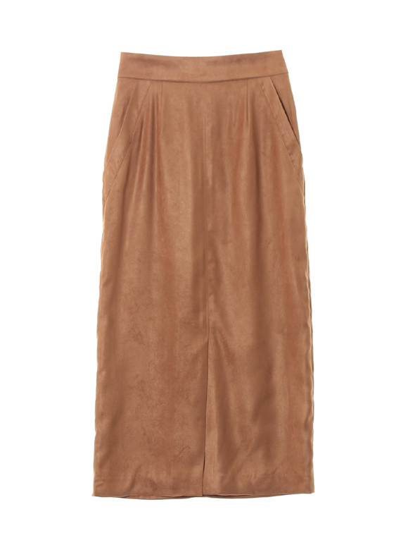 Eco suede long skirt