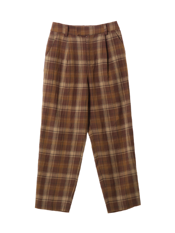 Cotton plaid pant