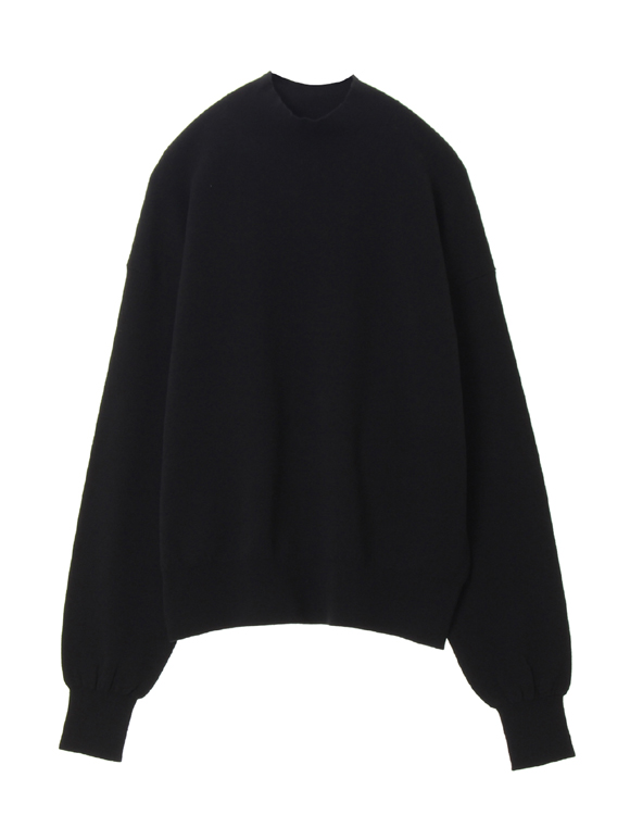 Silky terry sweater mock neck po