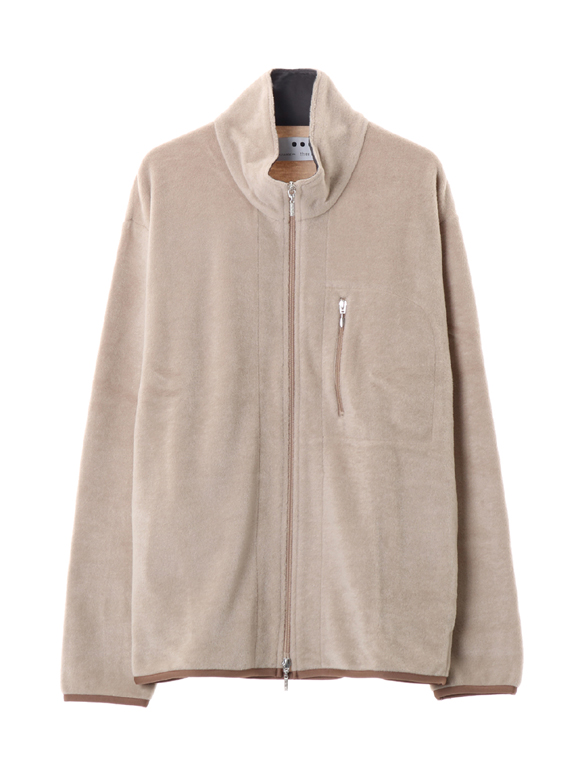Men's ash sanding zip up blouson