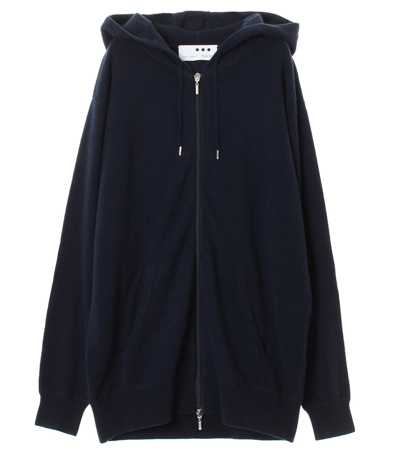 Men's pure cashmere zip parka 詳細画像 navy 1