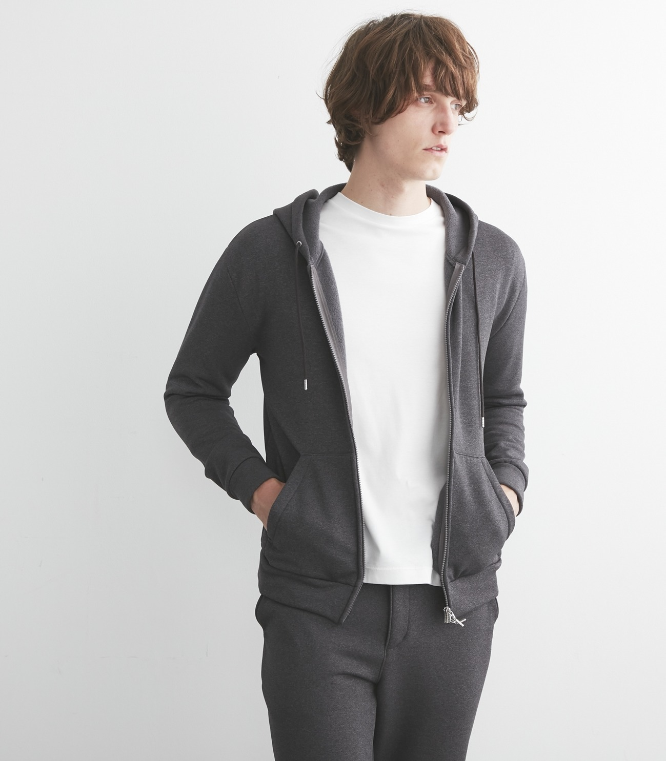 Men's cordura fleece zip up park 詳細画像 black 6