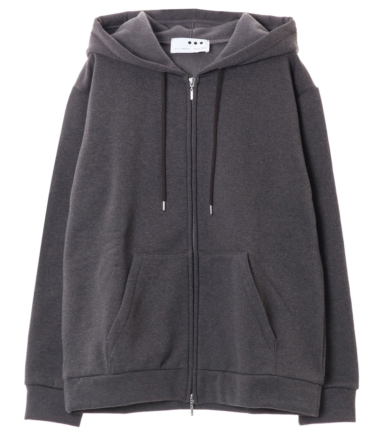 Men's cordura fleece zip up park 詳細画像 charcoal 1