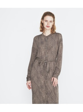 Dot print long shirt dress 詳細画像