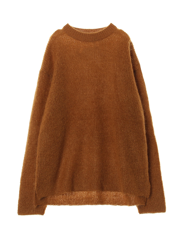 Men's mohair 7G high crew neck