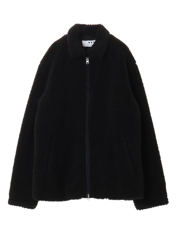 Men's eco fur zip bluson