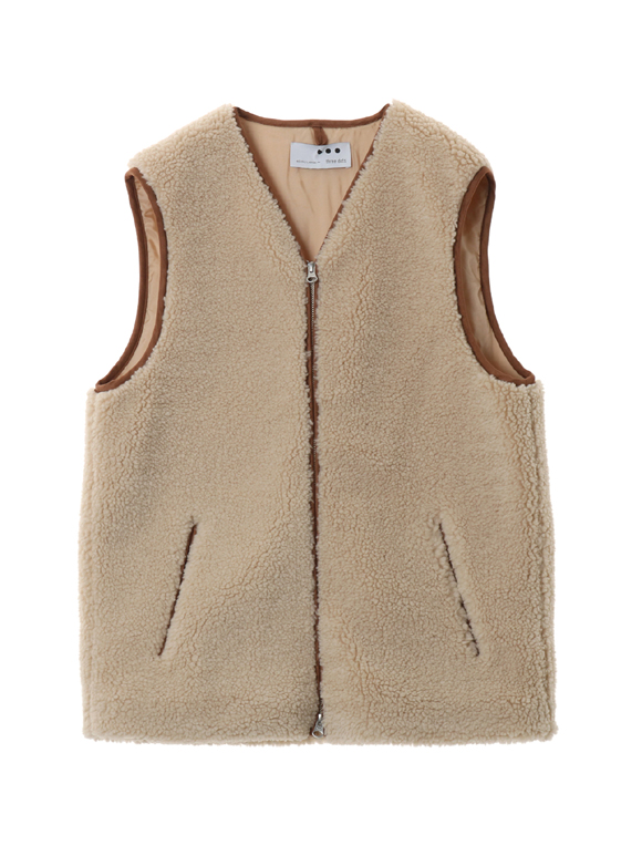 Men's eco fur vest