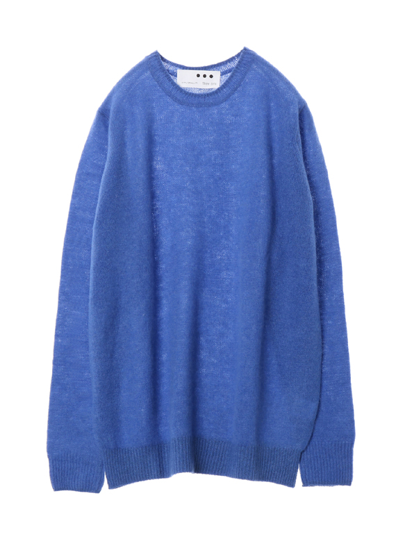 Fluffy cashmere l/s crew top