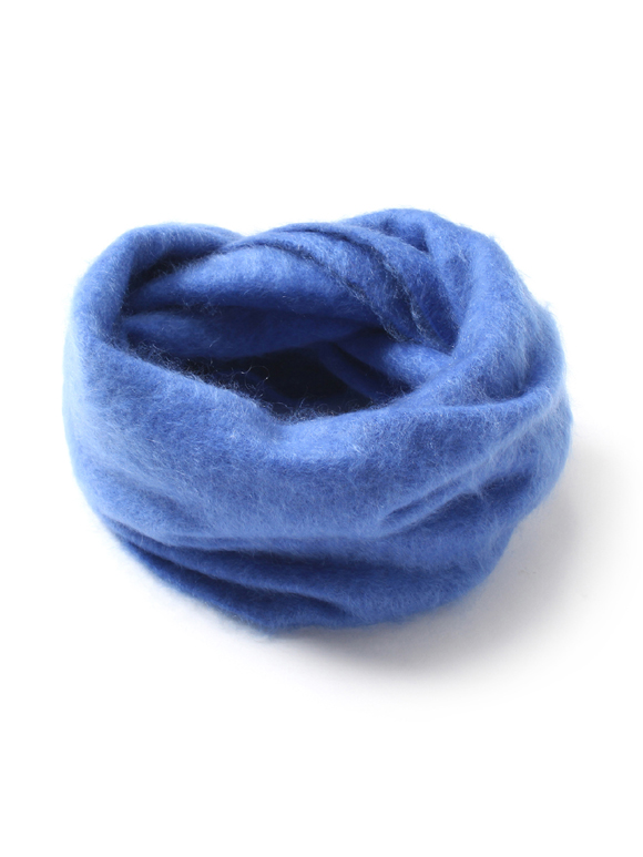 Fluffy cashmere snood