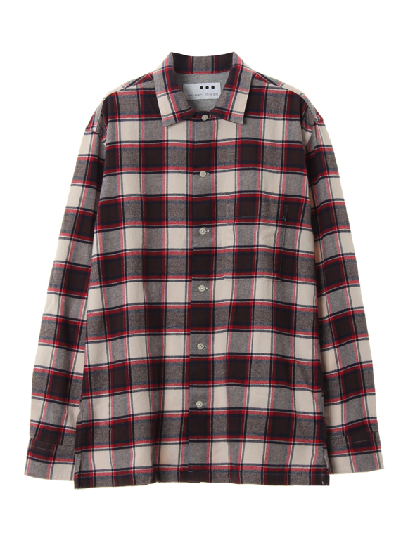 Men's washed soft twist flannel shirt