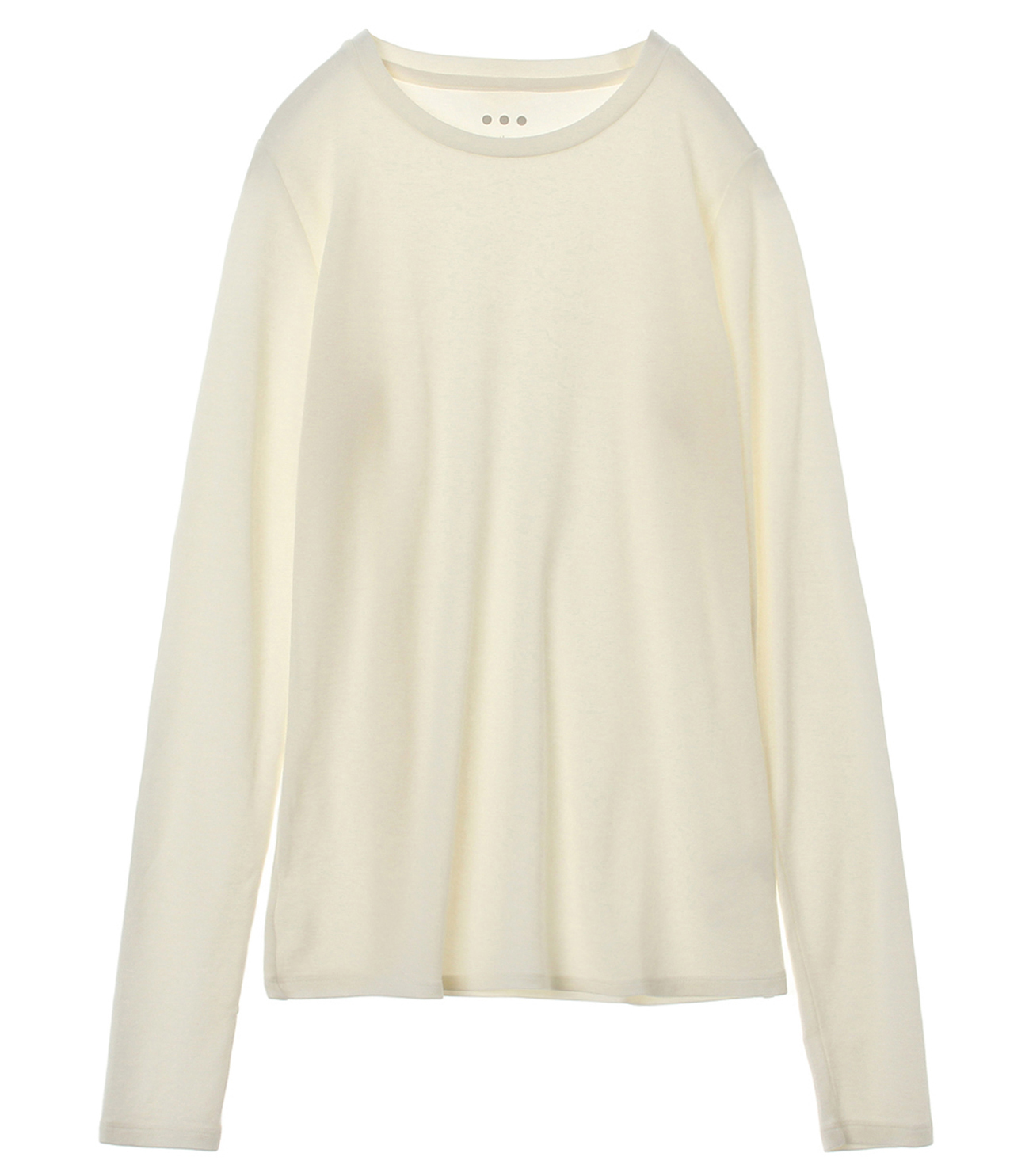 Sustainable jersey l/s crew top 詳細画像 white 1