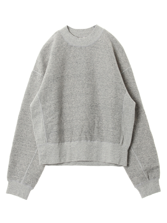 Lyocel cotton frenchterry crew top