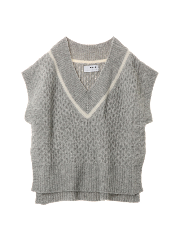 Nordic sweater loose vest