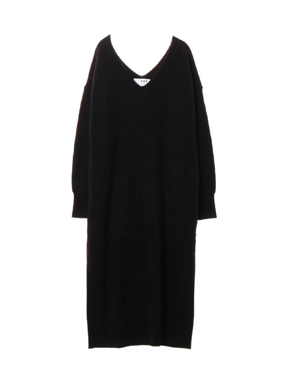 Nordic sweater long double v dress
