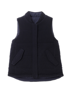 Wool outfit reversible outervest 詳細画像