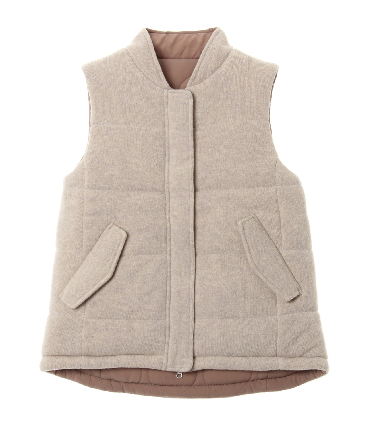 Wool outfit reversible outervest 詳細画像 beige 1