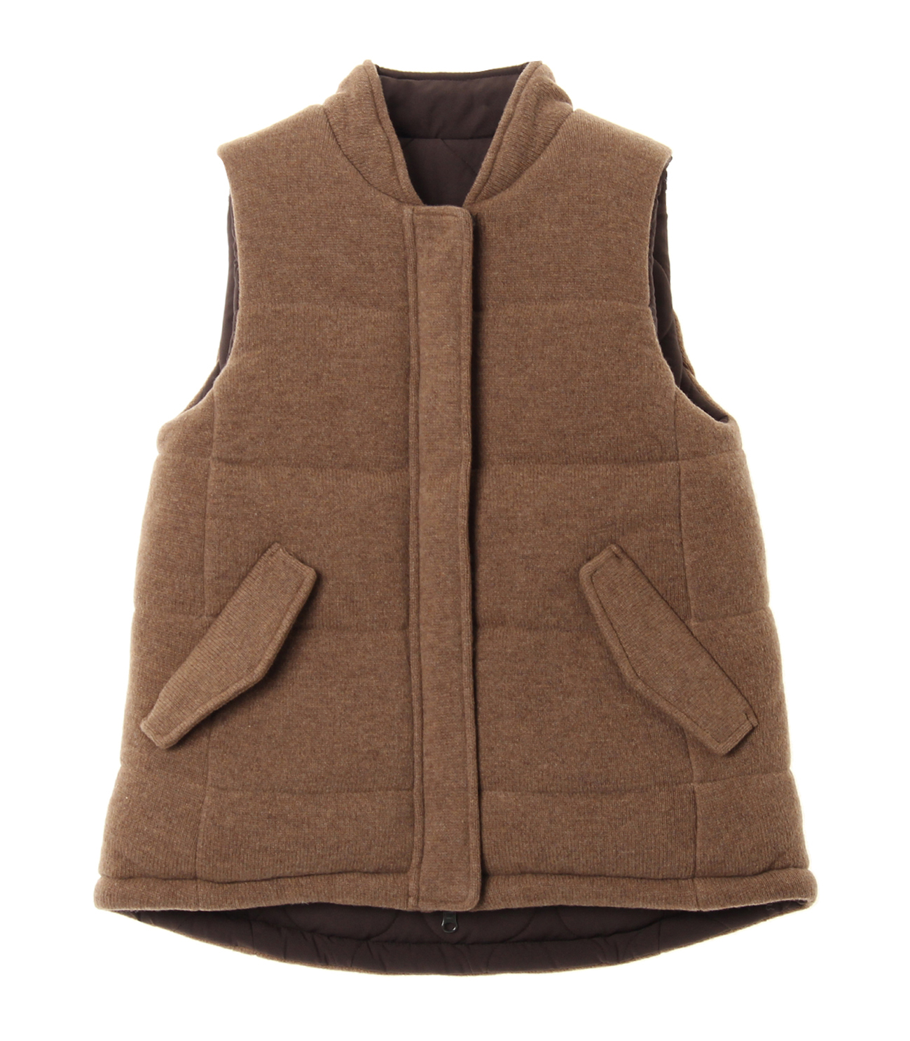 Wool outfit reversible outervest 詳細画像 brown 1