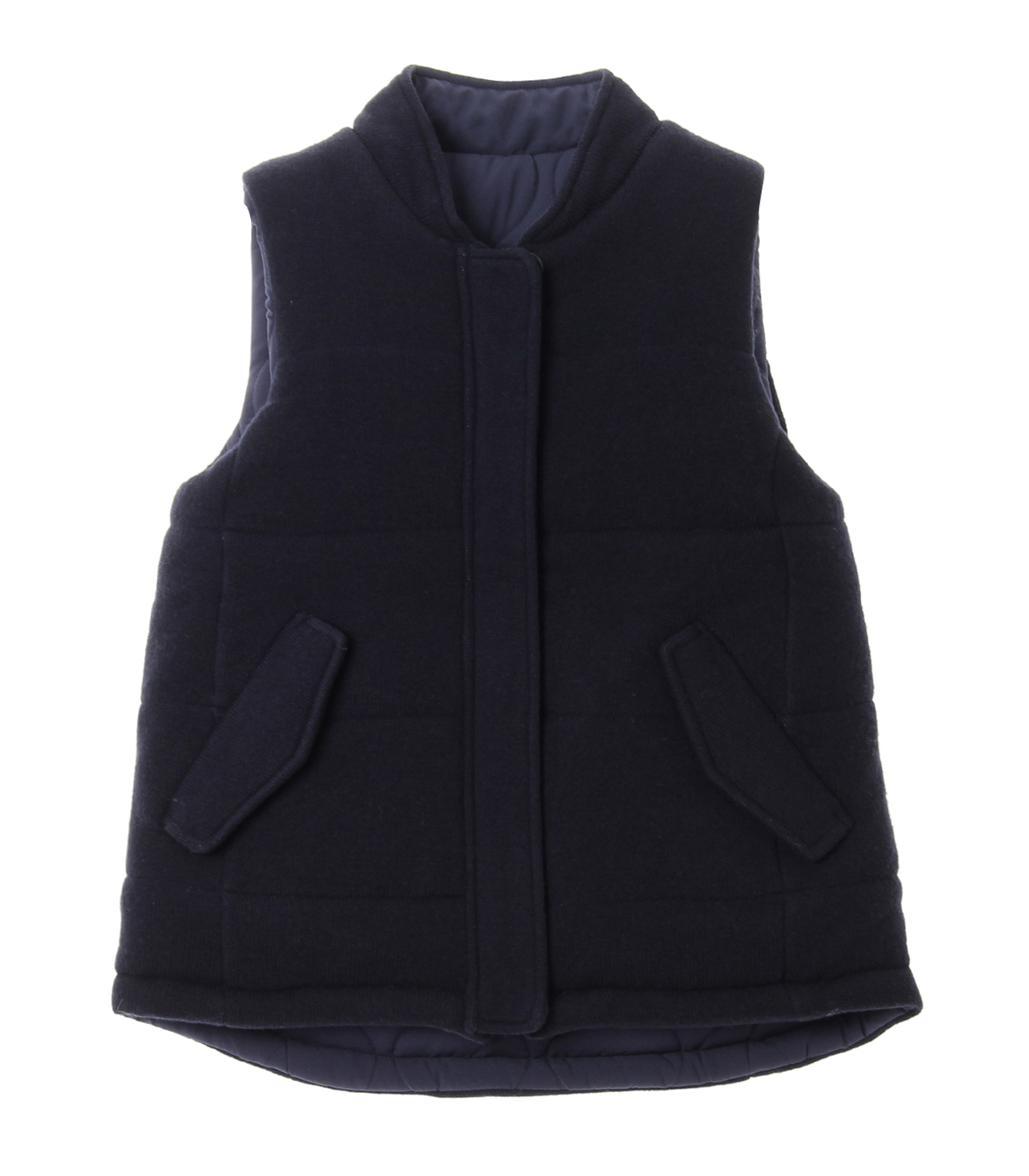 Wool outfit reversible outervest 詳細画像 navy 1