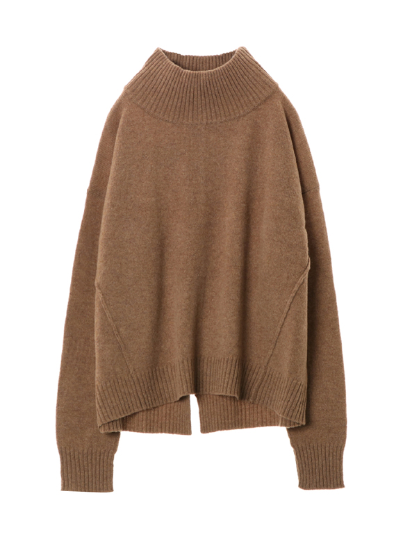 Wool outfit l/s mock neck top