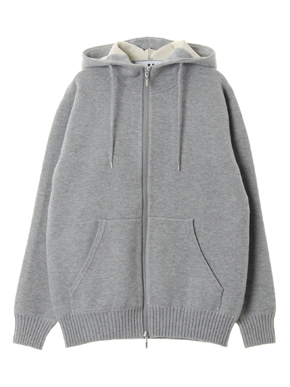 Men's dual layerd sweat zip hoody 詳細画像