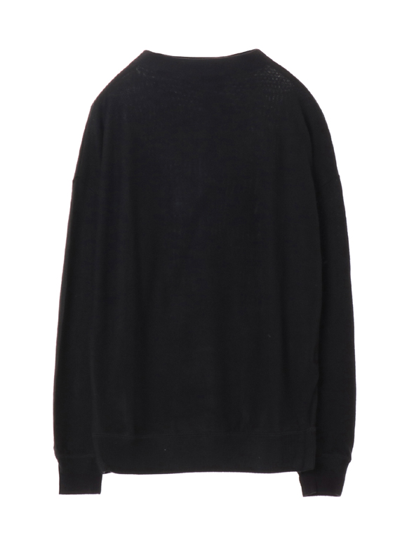 Brushed sweater l/s top