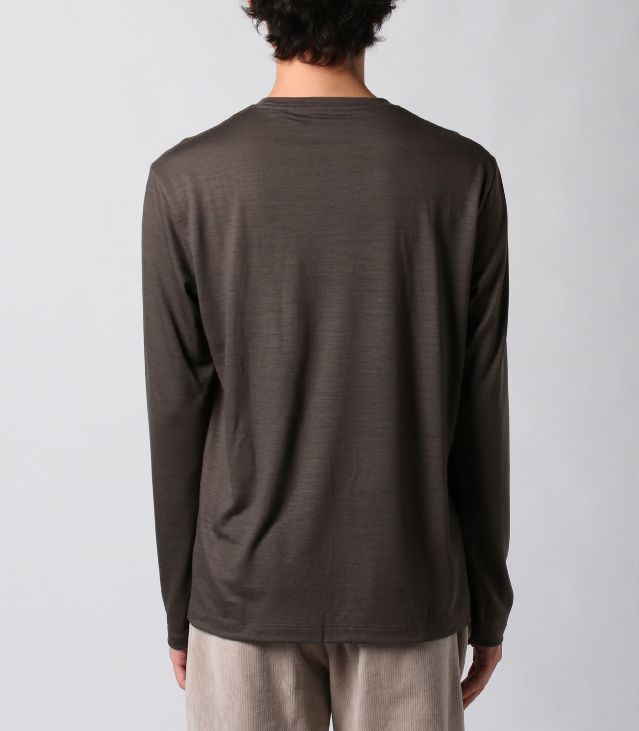 Washable silky dry jersey crewneck 詳細画像 brown 4