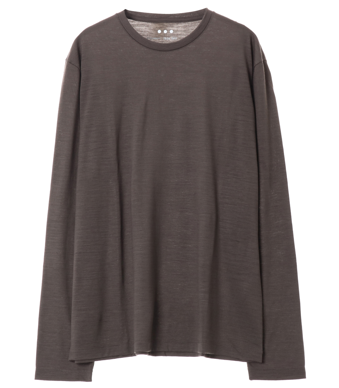 Washable silky dry jersey crewneck 詳細画像 brown 1