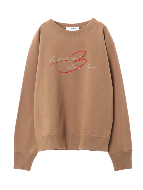 Graphic sweat l/s  top