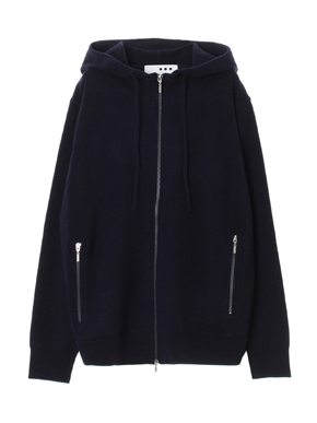 Men's tasmania wool zip parka 詳細画像