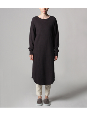 Double brushed waffle l/s dress 詳細画像