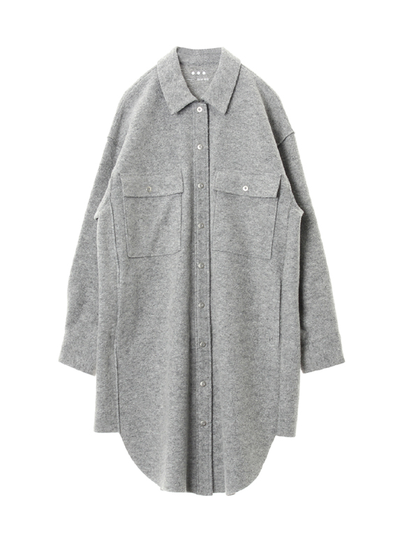 Wool ring jersey l/s CPO dress jacket