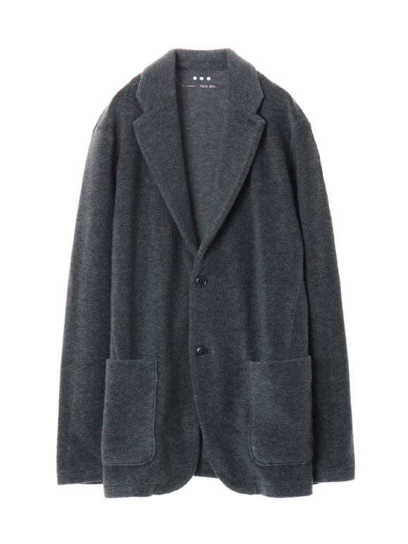 Men's wool boucle jersey jacket