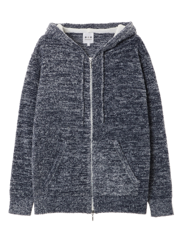Men's 7G Pile knit l/s zip hoody