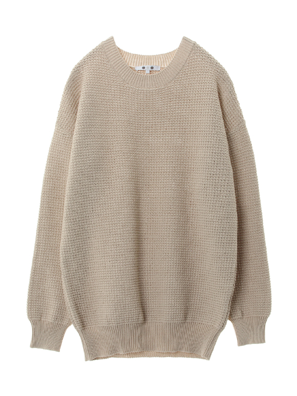 Tuck stitch sweater l/s pullover