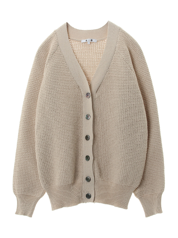 Tuck stitch sweater v neck cardy