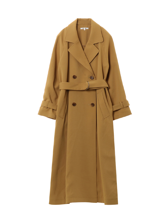 Soft twill trench coat